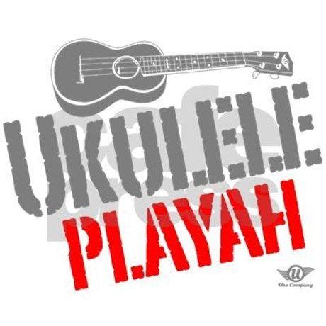 Ukulele Playah Decal by ukuleletshirtcompany
