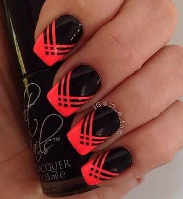 Concrete And Nail Polish Striped Nail Art: Best 25+ Striped Nails Ideas On Pinterest