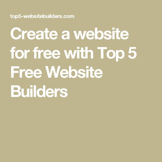 Create a website for free with Top 5 Free Website Builders