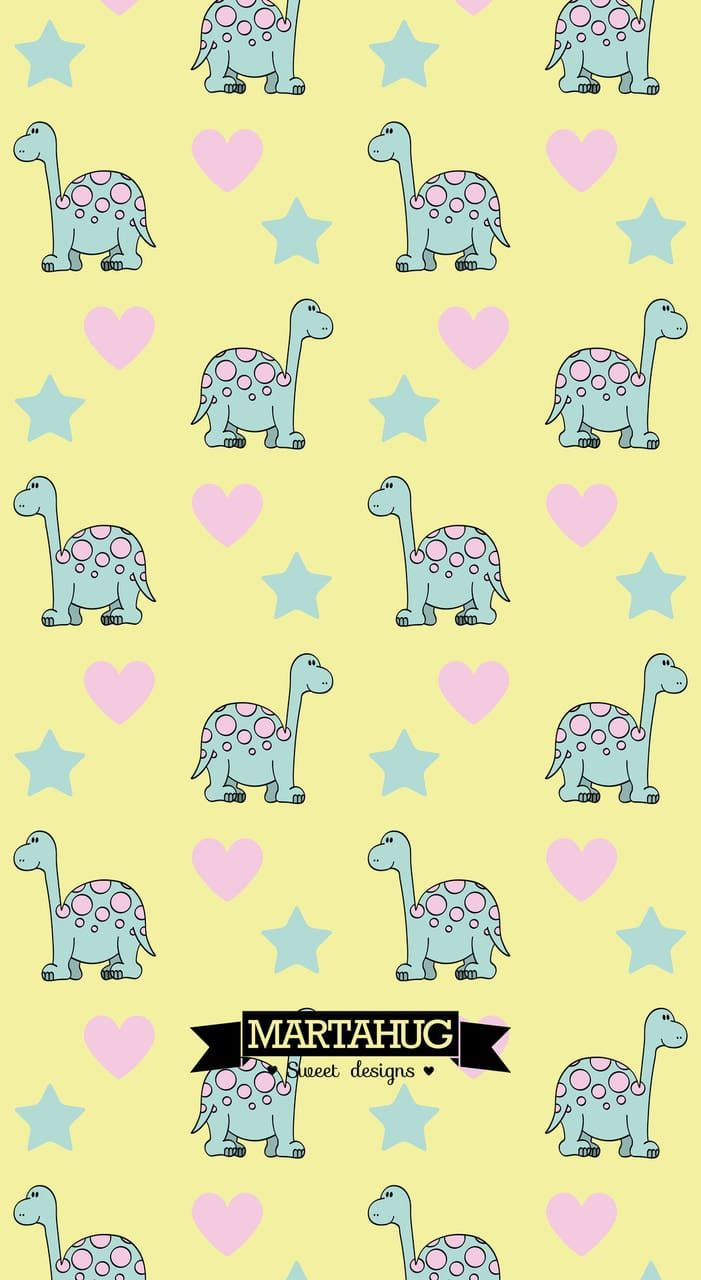 Wallpaper Dino By Martahug Discovered By Martahug Pretty Wallpapers Kawaii Wallpaper Cool Wallpaper