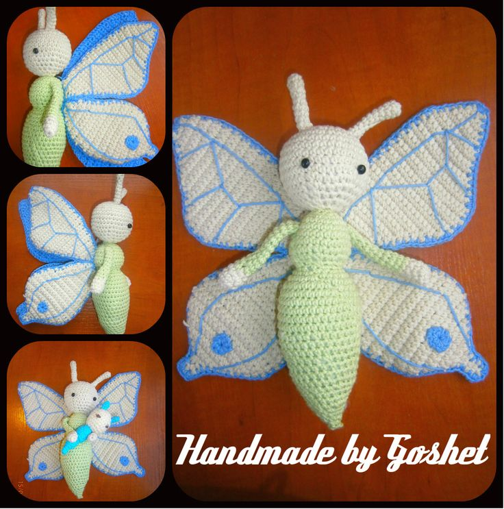 Zabbez Crochet Patterns : Crochet butterfly Bree made by Margaret HK - crochet pattern by Zabbez