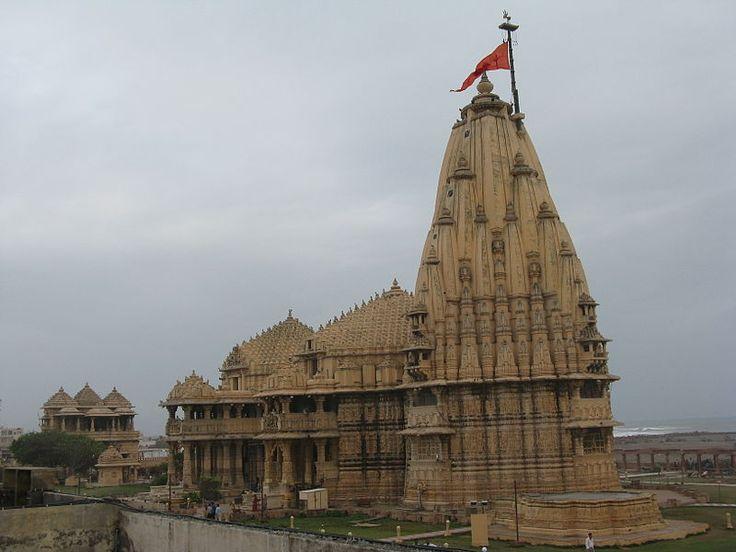 The Somnath Temple (Gujarati: સોમનાથ મંદિર Sanskrit: सोमनाथ मन्दिर) located in the Prabhas Kshetra near Veraval in Saurashtra, on the western coast of Gujarat, India, is one of the twelve Jyotirlinga shrines of the god Shiva.