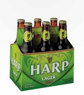 Harp Lager - $10.79 Irish Lager. Light sweetness with a faint buttery flavor and a fruity backbone. 5.0% ABV