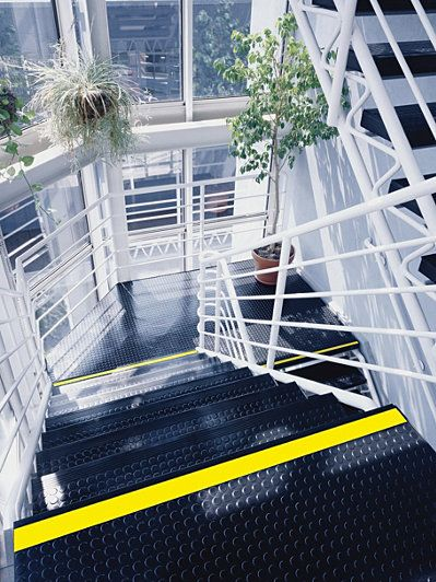 Stair Treads  Nose and Tread Visually Impaired RVR Rubber