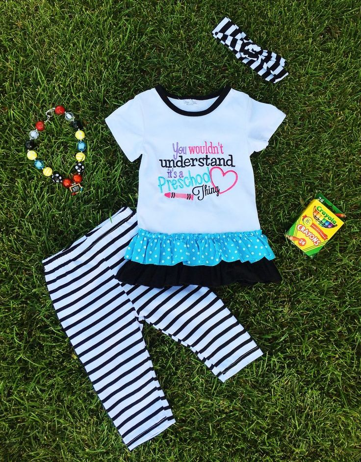 """""""You Wouldn't Understand It's a Preschool Thing"""" Pant Set #boutique-outfits #clearance #daily-deal #daily-deals #new #newborn-clothing…"""