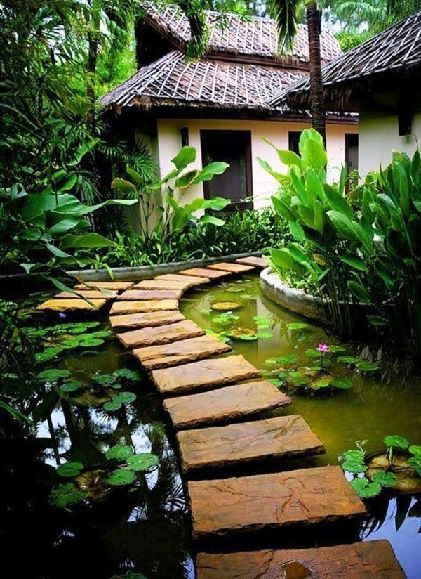 Perfect 100 Gartengestaltung Bilder Und Inspiriеrende Ideen Für Ihren Garten    Lustigen Garten Gestalten Trittsteine Teich Pflanzenbeete