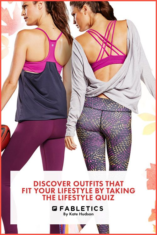 Perfect for your sweatiest workouts. Stay completely dry (and totally on-trend) in our strappy tanks and smooth, chafe-resistant Salar Leggings! Discover outfits that fit your lifestyle by taking our Lifestyle quiz!