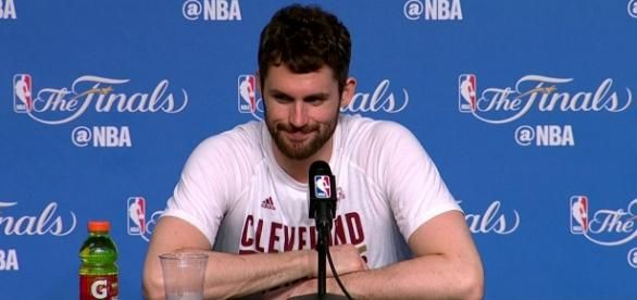 Kevin Love is once again at the center of NBA trade rumors following their loss against the Warriors (via YouTube/NBA)