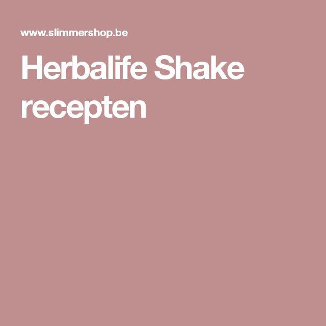 Herbalife Shake recepten