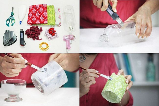 HappyModern.RU | Поделки из пластиковых бутылок для сада (77 фото): простой и оригинальный декор | http://happymodern.ru