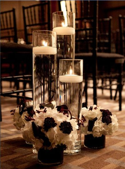 Not the color but the idea is cute and you could make this with stuff from the dollar stored #diy #cheap #centerpieces