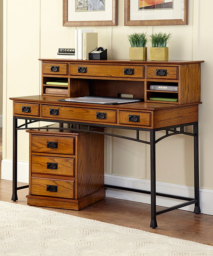 modern craftsman executive desk set by home styles