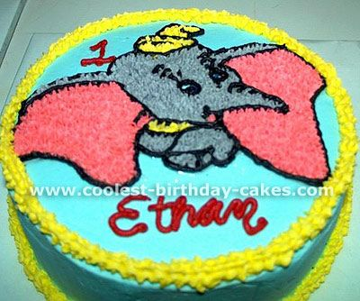 Coolest Dumbo Cakes on the Web's Largest Homemade Birthday Cake Gallery