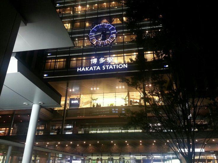 후쿠오카 늦은밤 하카타역