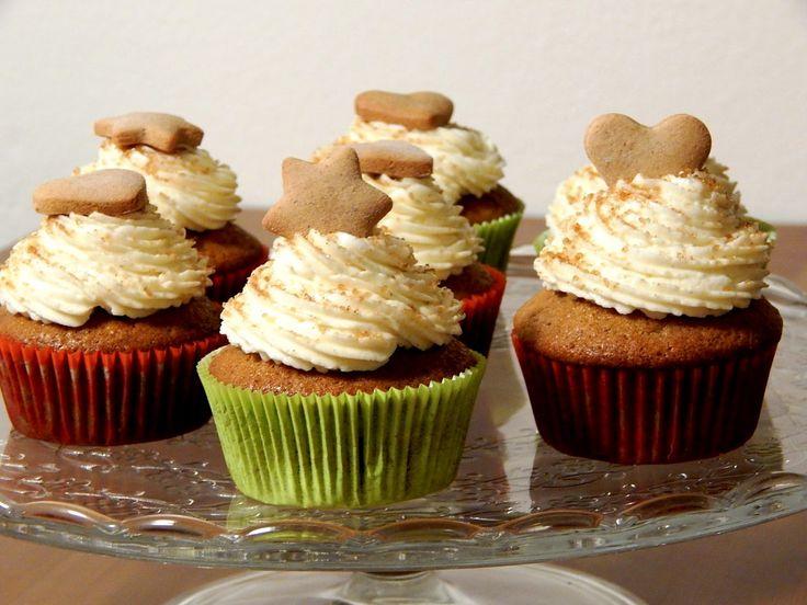 Perníkové cupcakes