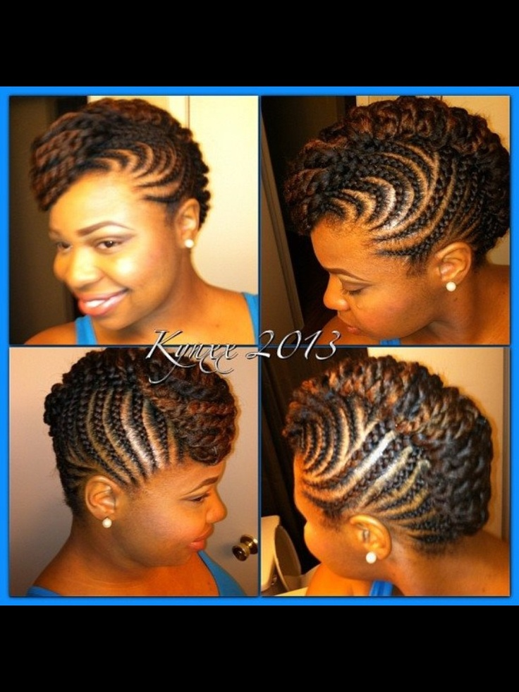 Updo Protective Transitioning Mohawk Natural Hair