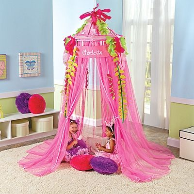 25 best images about princess tent ideas on pinterest for Hanging canopy over bed