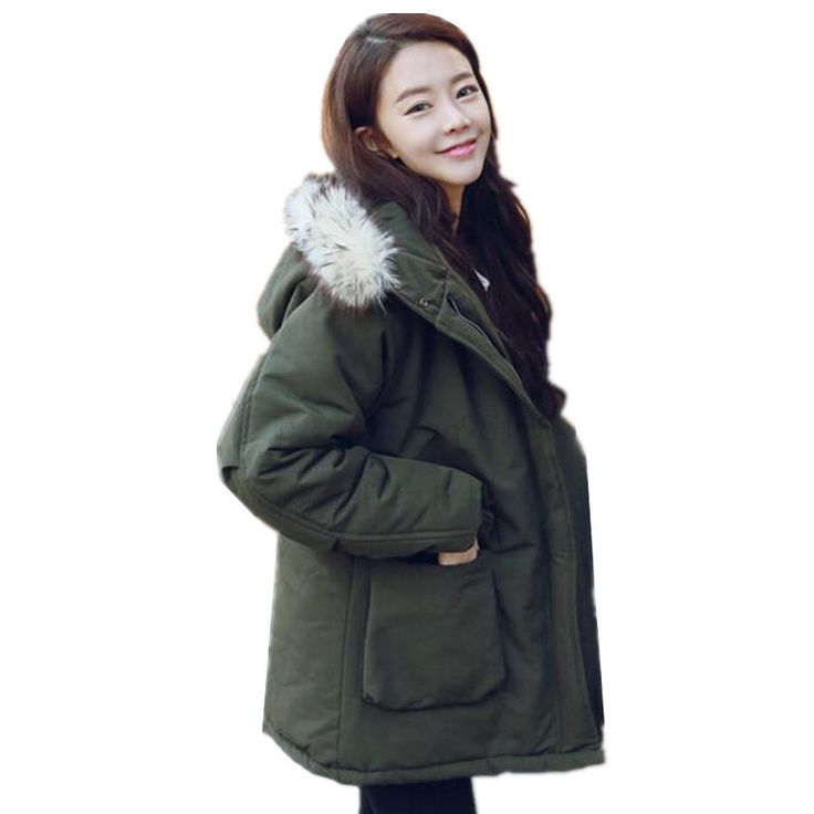Winter Women Jacket Coat 2017 New Winter Korean Plus Size Casual Hooded Parka Coat Female Student  Loose Was Thin Cotton Outwear