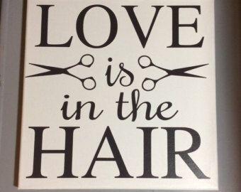 Bemalte Leinwand Sign 12 von 16 Zoll Haar von MySunshineDecor