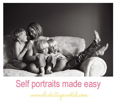"""""""Self Portraits Made Easy"""" by Lacey Meyers on the Click it up a Notch blog."""