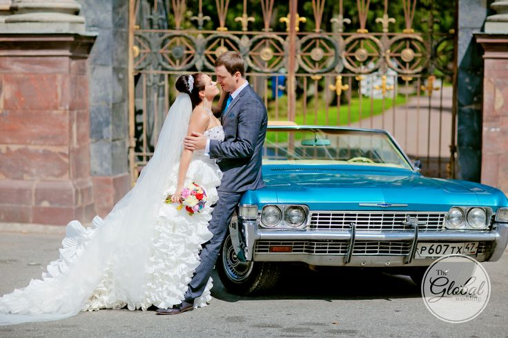 Голубой кабриолет. Blue wedding cabriolet.