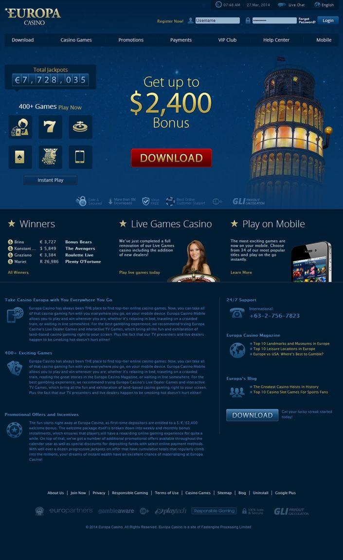 европа казино код бонуса