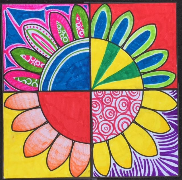 FLOWER POWER! Collaborative project - Art Enrichment Everyday MAY Activity Coloring Pages (20 activities in all). Art and classroom sub lessons.