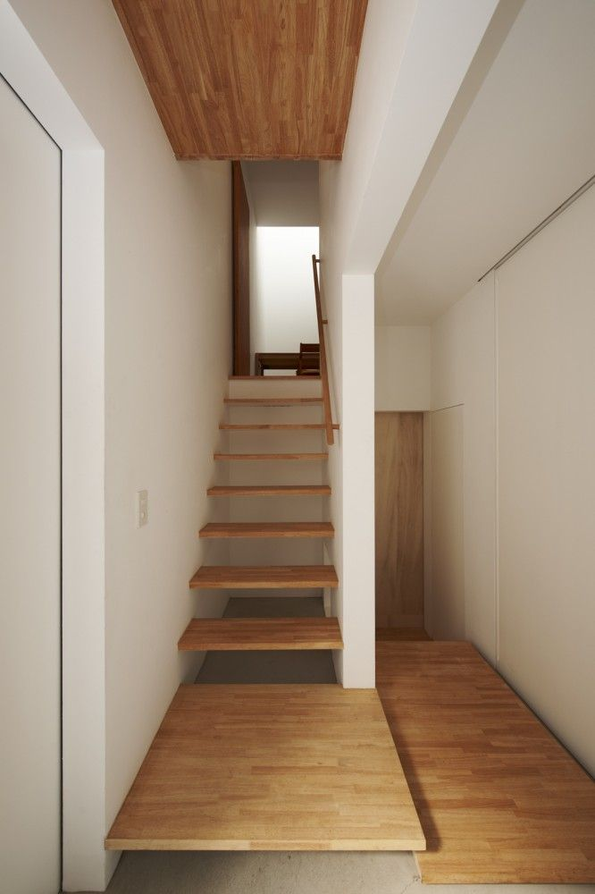 House in Futakoshinchi / Tato Architects #simple #woodStaircas Design, Interiors Architecture, Interiors Design, Home Decor, Floors Design, Tato Architects, House, Small Spaces, Industrial Design