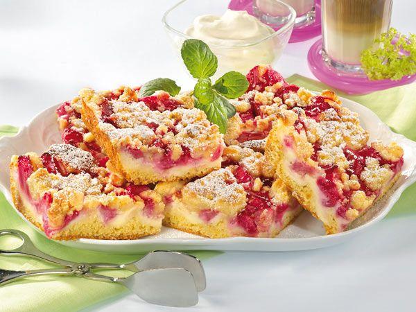 Rhabarberkuchen mit Streusel - so geht's - rhabarberkuchen-mit-streusel-b