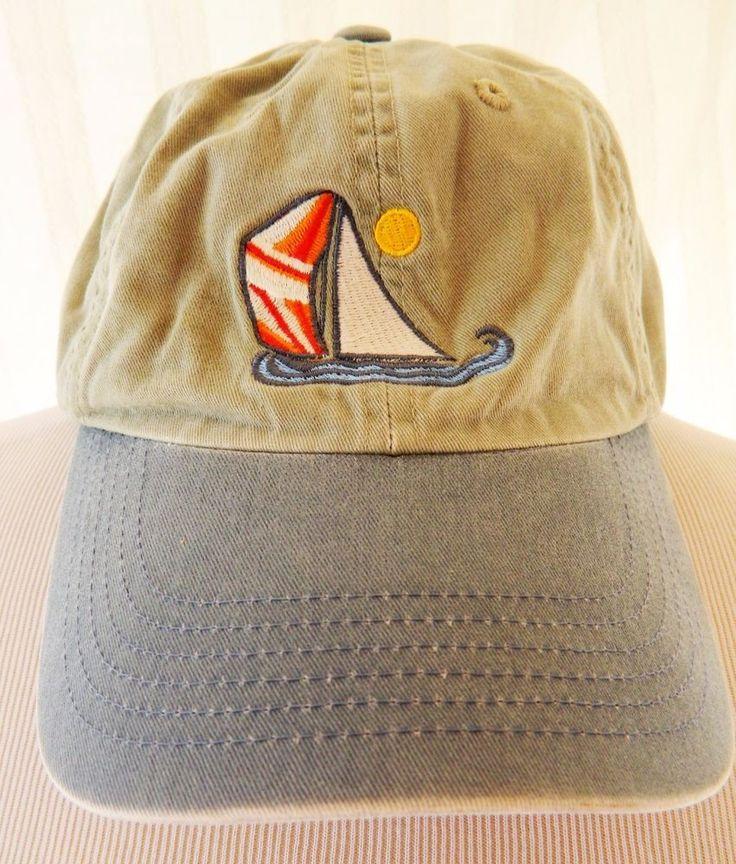 Port Authority Baseball Cap Hat Del Mar Marina CA Green Sail Boat Adjustable #PortAuthority #BaseballCap