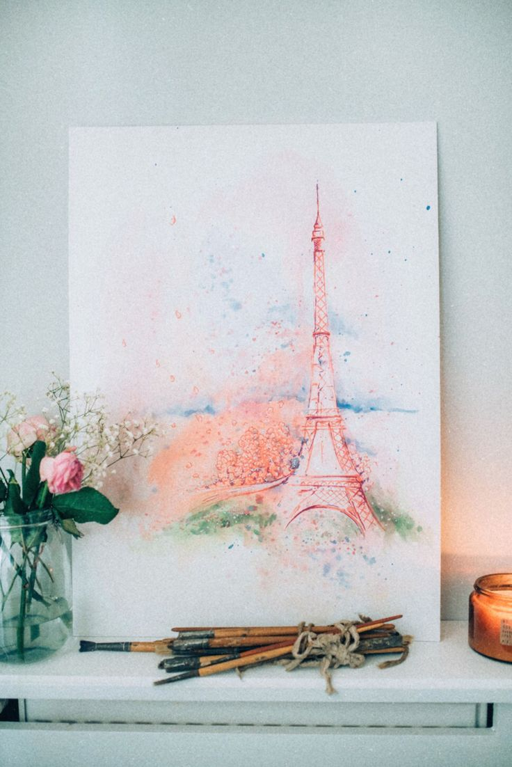 EIFFEL TOWER PAINTING BY ETICTATTOO