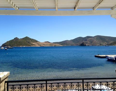 The perfect setting, right by the sea |  ‪#‎silverbeach‬ ‪#‎grikos‬ ‪#‎patmos‬