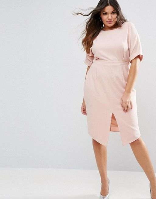 ASOS Curve Smart Midi Dress  - 7 Pretty Plus-Size Dresses for Spring