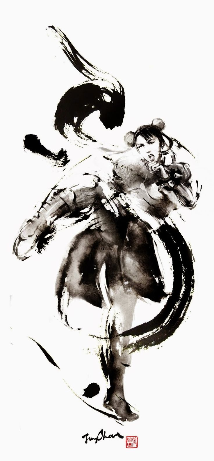 Chinese artist Rola Chang, aka Jung Shan from Taiwan. Asian inspired ink paintings combining eastern and western elements http://jungshan.deviantart.com/ http://jung-shan.blogspot.com/?m=1   張榕珊 http://jung-shan.blogspot.tw/