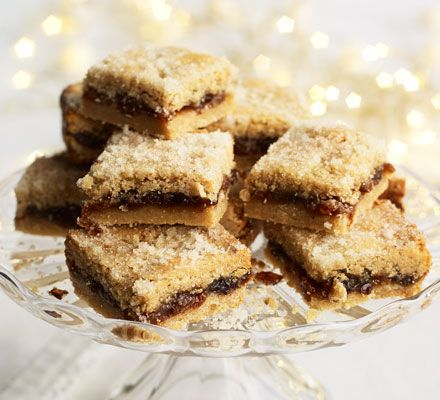 An easy alternative to mince pies. For a festive presentation, pile the squares on a cake stand and top with holly and a snowy dusting of icing sugar.