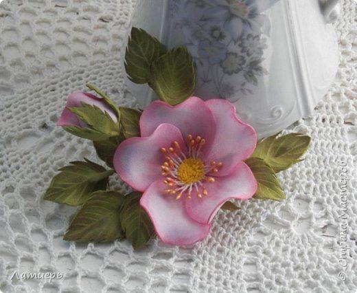 Флористика искусственная Моделирование конструирование Немного роз Фоамиран фом фото 1