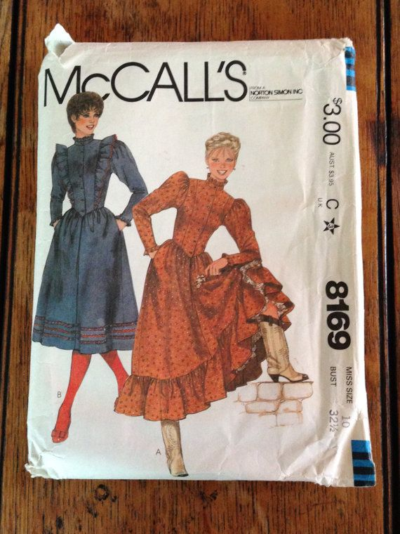 McCalls Dress Pattern from the Eighties, Size 10