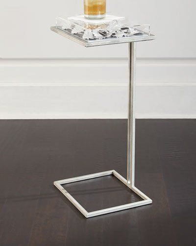 H8A08 Tommy Mitchell Silver-Leaf Gingko Table