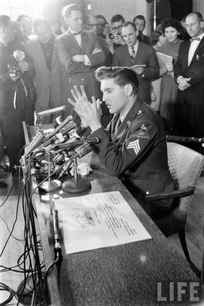 Elvis Fort Dix press conference in march 5  1960