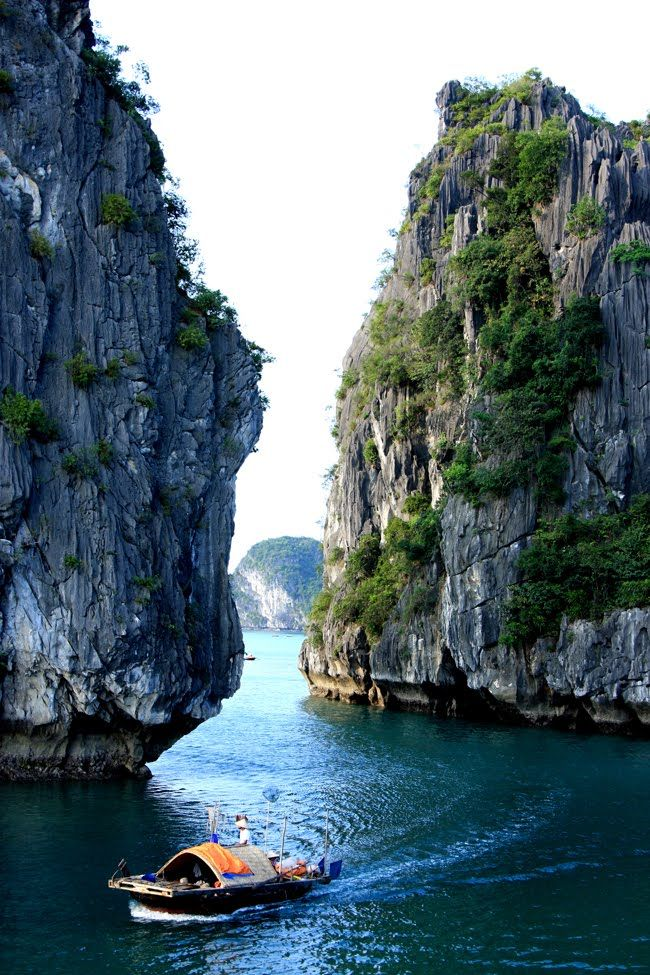 Halong Bay, Vietnam.  A World Heritage Site.