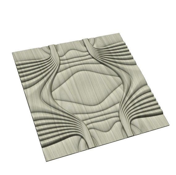 Tile-able wall panel 3D model for CNC machining with by BonitumART