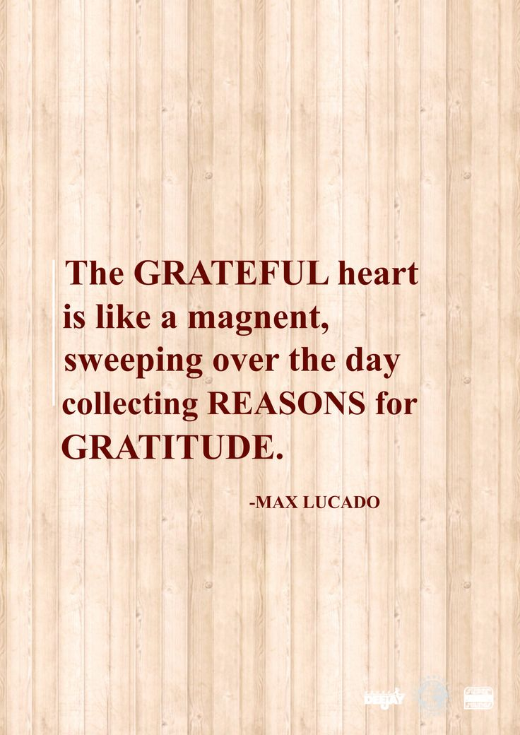 Grateful hearts have more to be grateful for