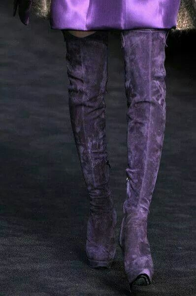 Purple suede boots!!