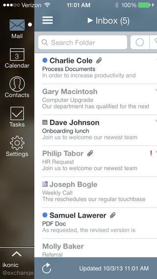 Top iPhone Game #187: Mail+ for Outlook - iKonic Apps LLC by iKonic Apps LLC - 05/15/2014