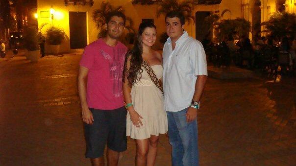 With Luz Adriana and Sebastián (Cali - Colombia) @ Plaza San Pedro Claver