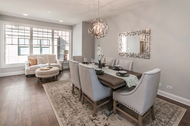 Dining Area In The Luxury Row Style Townhomes At Courthouse Square