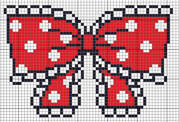 Free Red Polka Dot Bow Cross Stitch Pattern