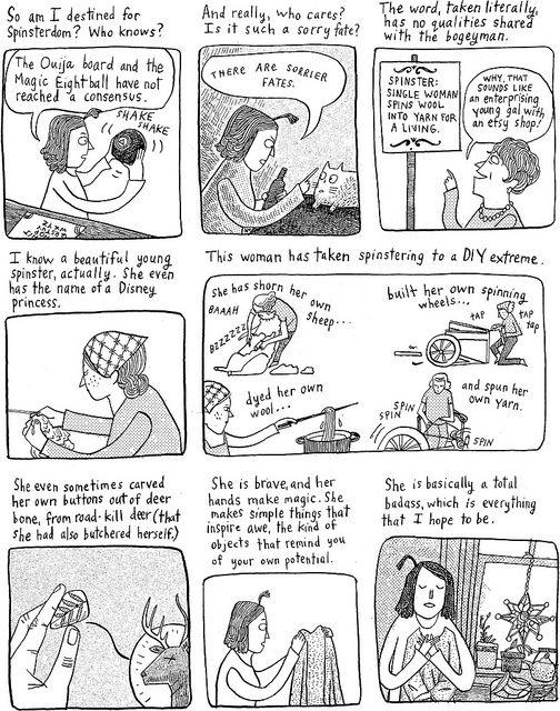 "Bitch magazine - The Big Feminist BUT: Corinne Mucha's ""Spinster"""