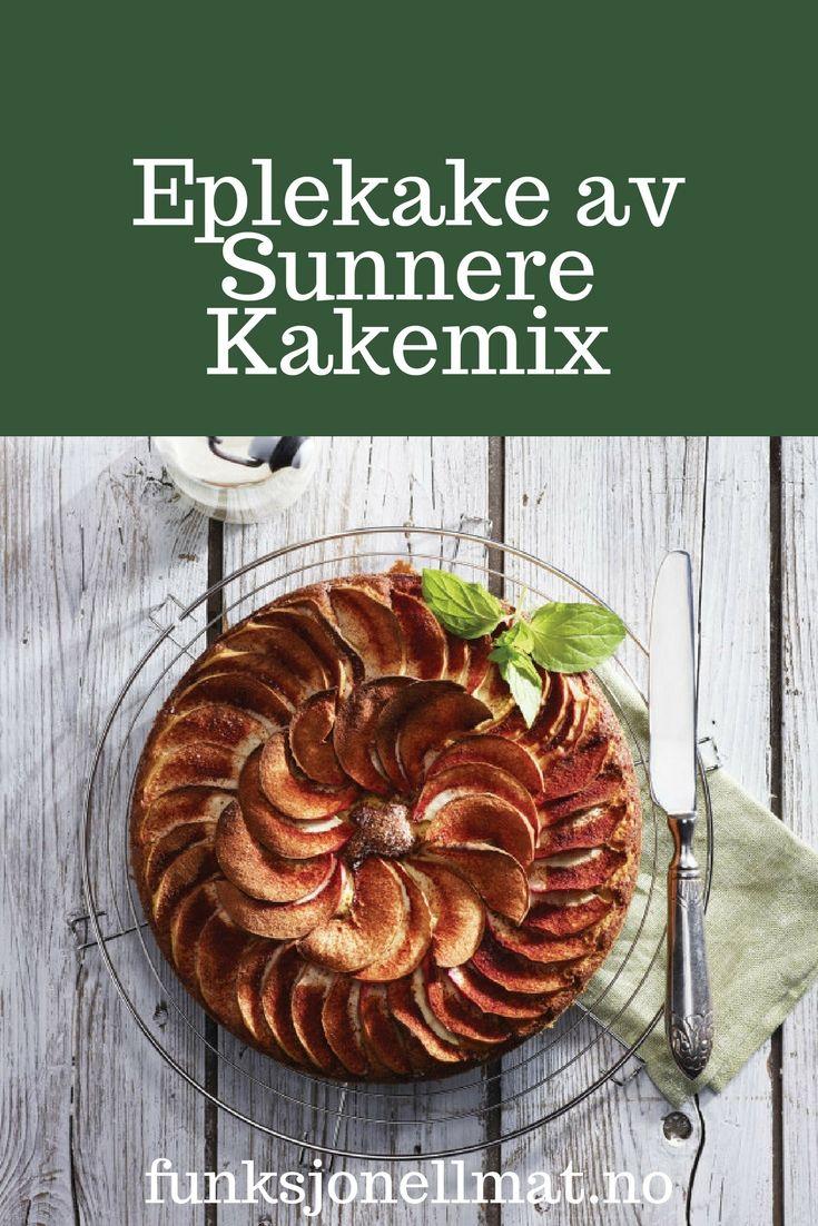 Eplekake av Sunnere Kakemix - Funksjonell Mat | Eplekake oppskrift | Sunn kake | Sukkerfri kake | Sunn dessert | Oppskrift uten sukker | Sukkerfri oppskrift