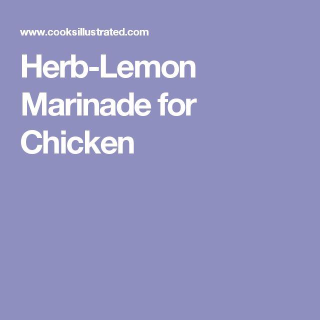 Herb-Lemon Marinade for Chicken